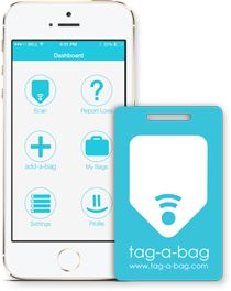 Tag-a-bag offers the best lost and found luggage tags with the latest technology - The NFC embedded tags and mobile app make for the world's most effective and simple lost & found solution. If you have lost your luggage, then these tags can help you track it by a mobile app.
