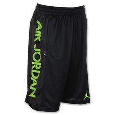 Men's Jordan Bright Lights Basketball Shorts   FinishLine.com   Black/Electric Green