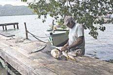 Pescado bien fresco. Una de las tantas delicias del menú isleño.