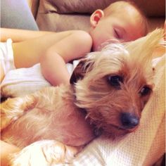 Fur baby with real baby...