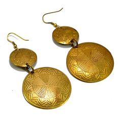 A Pair of Indian Brass Metal Traditional Boho Hippie Earrings Aife_714 Krishna Mart India http://www.amazon.com/dp/B00MIZ4SOE/ref=cm_sw_r_pi_dp_ElqJvb0VTGT3Q