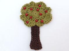 Crochet applique 1 crochet applique green by MyfanwysAppliques