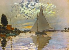 Monet: Sailboat Giclee Print by Claude Monet at Art.com