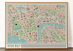 Map of London showing locations from over 600 works of fiction.