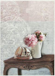 Rice Paper for Decoupage, Scrapbook Sheet, Craft Paper Vintage Still Life
