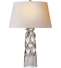 Visual Comfort E F Chapman Westport 1 Light Table Lamp in Crystal with Natural Paper Shade Luxury Table Lamps, Table Lamps For Bedroom, Visual Comfort Lighting, Contemporary Table Lamps, Modern Table, Residential Lighting, Interior Exterior, Interior Design, Interior Ideas