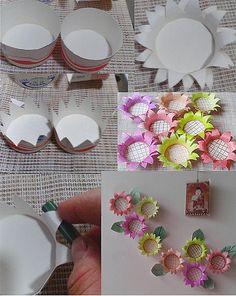 DIY Flowers flowers diy crafts home made easy crafts craft idea crafts ideas diy ideas diy crafts diy idea do it yourself diy projects diy craft handmade Kids Crafts, Cup Crafts, Diy Home Crafts, Easy Crafts, Arts And Crafts, Handmade Flowers, Diy Flowers, Fabric Flowers, Paper Flowers