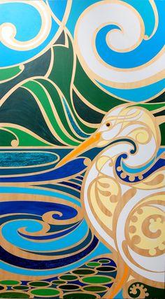 Another gorgeous New Zealand art piece from Shane Hansen Maori Designs, Art Maori, Maori Symbols, Kunst Der Aborigines, Zealand Tattoo, New Zealand Art, Nz Art, Hawaiian Art, Kiwiana
