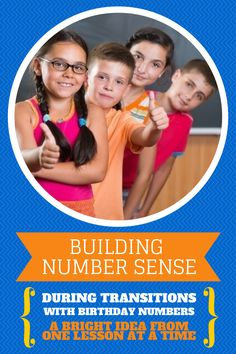 Building Number Sense During Transitions