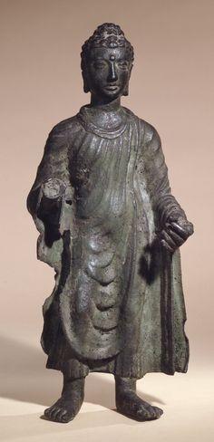 4th-5th century, Pakistan, Gandhara school, Kushan empire, buddha, bronze, 41,6 cm, at British Museum