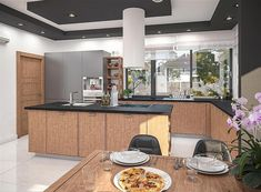 Projekt domu Padme 3 WZ 145,31 m2 - koszt budowy - EXTRADOM Mykonos, House Plans, Sweet Home, Villa, Kitchen, Home Decor, Plants, Projects, Blueprints For Homes