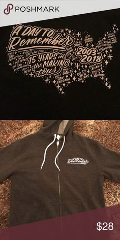 A Day to Remember 2018 hoody Soft hoody for the band A Day to Remember's 2018 tour— Never worn Sweaters Zip Up