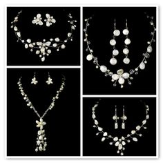 Keshi Pearl Necklace and Earring Sets
