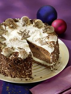 Feine Kaffee-Torte - Eine feine Schokoladentorte mit einer Kaffeenote für die Weihnachtzeit
