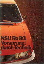NSU Ro80 Ad - Before Audi borrowed NSU's tagline...