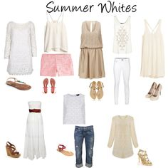 Summer Whites by lesliekerr, via Polyvore