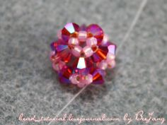- pic of flower center Beaded Earrings Patterns, Beading Patterns Free, Beading Tutorials, Bead Earrings, Earring Tutorial, Beaded Ornaments, Beads And Wire, Bead Crafts, How To Make Beads