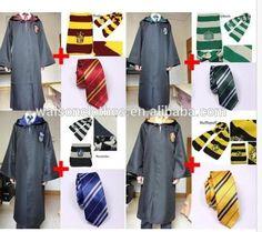 INSTYLES Harry Potter Adult Robe Cloak+Scarf+tie set School Costume
