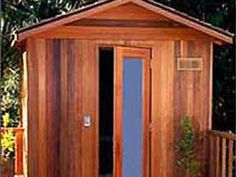 At-home saunas add a healthy, tranquil touch to the home and are a popular luxury among homeowners looking to relax. Sauna Kits, Sauna Benefits, Sauna Accessories, Indoor Sauna, Sauna Room, Outdoor Retreat, Ways To Relax, Saunas, Hgtv