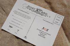 Vintage postcard inspired RSVP wedding stationary design by Kingston Lafferty Design Stationary Design, Wedding Stationary, Packaging Design, Branding Design, My Design, Graphic Design, Kingston, Rsvp, Our Wedding