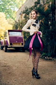 Emma Watson & Citroën 2CV by Norman Jean Roy, 2010.    Looks like the Charleston edn Citroen.