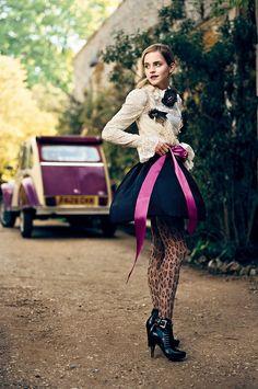 Emma Watson & Citroën 2CV by Norman Jean Roy, 2010.    Looks like the Charleston edn Citroen.