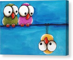 The Odd Guy Canvas Print by Lucia Stewart. All canvas prints are professionally printed, assembled, and shipped within 3 - 4 business days and delivered ready-to-hang on your wall. Choose from multiple print sizes, border colors, and canvas materials. Acrylic Painting Canvas, Canvas Art, Canvas Prints, Painted Canvas, Creation Art, Whimsical Art, Bird Art, Rock Art, Painting Inspiration