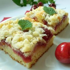 Recept na třešňový koláč z tvarohového těsta krok za krokem - Vaření.cz Brownie Bar, Daily Meals, Sweet Cakes, Sweet Tooth, Bakery, Cheesecake, Food And Drink, Cooking Recipes, Yummy Food