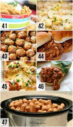 Ways to Feed a Crowd - From Crockpot Recipes to feed a crowd!Crockpot Recipes to feed a crowd! Crockpot Potluck, Easy Potluck Recipes, Potluck Dishes, Easy Casserole Recipes, Healthy Crockpot Recipes, Meat Recipes, Dinner Recipes, Cooking Recipes, Potluck Ideas