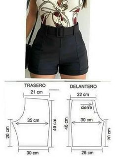 Corset Sewing Pattern, Sewing Patterns Free, Clothing Patterns, Sewing Clothes, Diy Clothes, Clothes For Women, Como Fazer Short, Underwear Pattern, Sewing Courses
