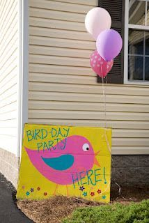 Ideas For Bird Theme Party Decorations Bird Theme Parties, Bird Birthday Parties, Bird Party, Baby 1st Birthday, Birthday Decorations, Birthday Ideas, Themed Parties, Happy Bird Day, Party Time
