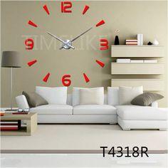 Wall Clocks Modern Style Wall Watch Sticker Acrylic 3D DIY Clock