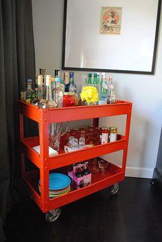 Bottoms Up! 10 DIY Bar Carts   Hacks