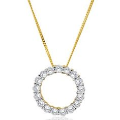 Flawless Cut Diamond Circle of Life Pendant in 9ct Gold (TW=0.5CT) on Chain  image-a