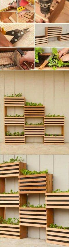 Outdoor planter boxes perfect for the town home.