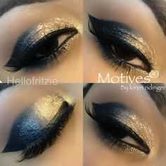 Get the Look with Motives #hellofritzie  Products used: -24k gem dust -pressed eyeshadow in onyx, cappuccino, and goddess - for lala mineral volumizing  & strengthening mascara in black -lala mineral khol eye liner in black -liquid liner in noir