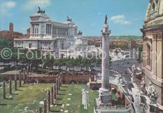 Vintage Postcard Roman Forum Rome Italy Color by foundphotogallery