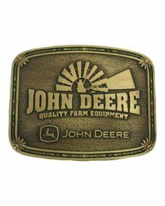 John Deere belt buckle