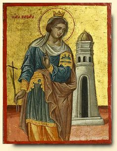 Saint Barbara - exhibited at the Temple Gallery, specialists in Russian icons