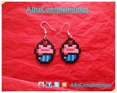 pendientes cupcake. #pendientes  #hechoamano #handmade #AlbaComplementos #bisuteria #accesorios #complementos #moda #cupcake