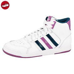 Adidas Schuhe Midiru Court MID 2.0 Damen running white-joy orchid-tribe blue (D65838), 40 2/3, weiss - Adidas schuhe (*Partner-Link)