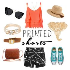 Printed shorts for summer!!! by joziee on Polyvore featuring polyvore fashion style Glamorous Yves Saint Laurent Gucci sweet deluxe J.Crew Quay clothing printedshorts