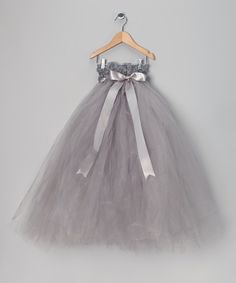 Take a look at this Enchanted Fairyware Couture Silver Flower Girl Tutu Dress on zulily today!