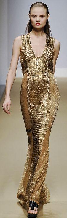 Modern goddess Golden gown CESPINS ❤Gianfranco Ferré FW 2010