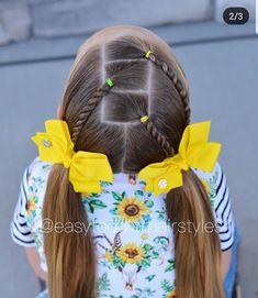 Easy Little Girl Hairstyles, Girls Hairdos, Cute Hairstyles For Kids, Easy Toddler Hairstyles, Lil Girl Hairstyles, Hairstyles Haircuts, Ponytail Braid Styles, Festival Hair, Hair Dos