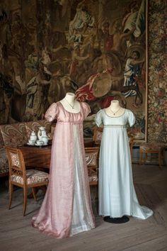 Regency, Regency dress, Regency fassion Ballgowns from Emma (2009) https://regencygentleman.wordpress.com/