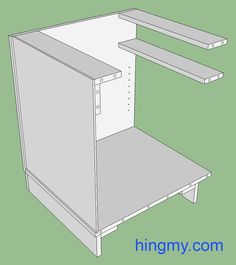 How To Build Frameless Base Cabinets Kitchen Pinterest