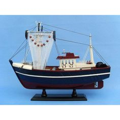 Handcrafted Nautical Decor Fishin Magician Fishing Model Boat