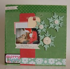 Merry & Bright layout from Designer Keisha Campbell.
