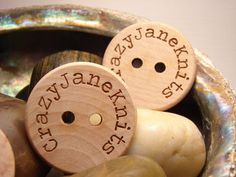 Personalized wood buttons engraved one and half by rememberwynn
